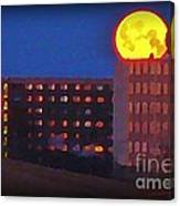 Super Moon In Halifax Nova Scotia Canvas Print