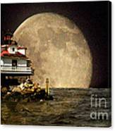 Super Moon Lighthouse Canvas Print