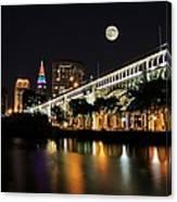 Super Moon Over Cleveland Canvas Print