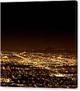 Super Moon Over Phoenix Arizona  Canvas Print