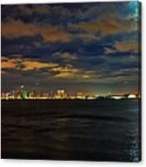 Super Moon Over San Diego 1 Canvas Print