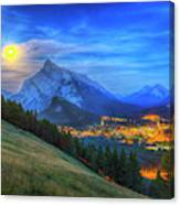 Super Moonrise Over Banff Canvas Print