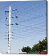 Super Power Pole And Wires Canvas Print