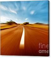 Super Speed Road Canvas Print