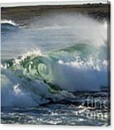Super Wave At The Barents Sea Coast Canvas Print