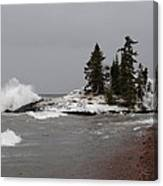 Superior Island View Of Storm Canvas Print