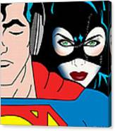 Superman And Catwoman  Canvas Print