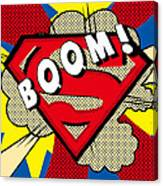 Superman Boom  Canvas Print