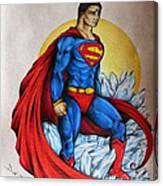 Superman Lives On Canvas Print