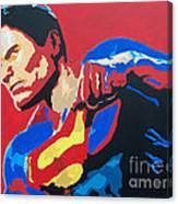 Superman - Red Sky Canvas Print
