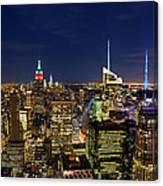 Supermoon Over Manhattan Canvas Print