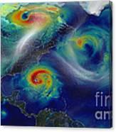 Superstorm Sandy Canvas Print