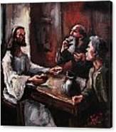 Supper At Emmaus Canvas Print