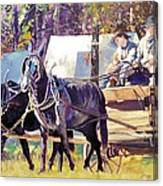 Supply Wagon Canvas Print