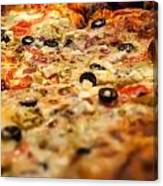 Supreme Meat Works Pizza  Sliced And Ready To Eat Canvas Print