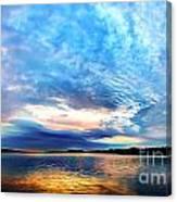 Sureal Pewaukee Lake Sunrise Canvas Print