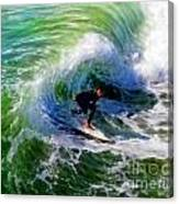 Surf 3 Off The Lip Canvas Print