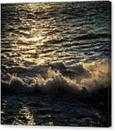 Surf At Dawn Canvas Print