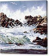 Surf At Lincoln City Canvas Print