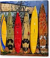 Surf Board Fence Maui Hawaii Canvas Print