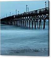 Surf City Pier Soft 2 Canvas Print