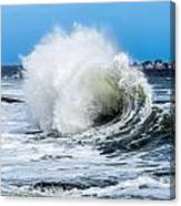 Surf Is Up At York Beach Canvas Print