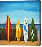 Surf On Canvas Print