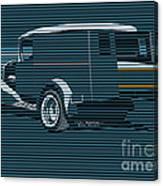 Surf Truck Ocean Blue Canvas Print