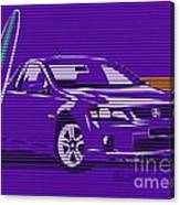 Surf Ute Purple Haze Canvas Print