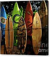 Surfboard Fence 4 Canvas Print