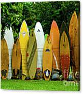 Surfboard Fence Maui Canvas Print