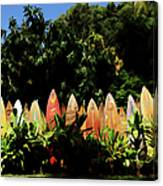 Surfboard Fence - Right Side Canvas Print
