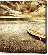 Surfboard On The Beach 2 Canvas Print