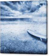 Surfboard On The Beach Canvas Print
