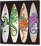 Surfboards Art Jungle Canvas Print