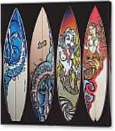 Surfboards Art Canvas Print