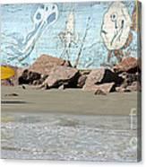 Surfer Beach 1034b Canvas Print