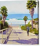 Surfer Dude at Fletcher Cove Canvas Print