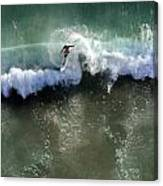 Surfer From The Sky Canvas Print