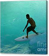 Surfer In The Zone Canvas Print