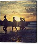 Surfers Canvas Print