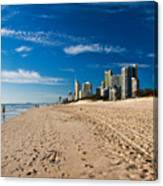 Surfers Paradise Beach By Day Canvas Print