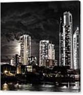 Surfers Paradise By Night Canvas Print