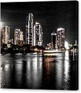 Surfers Paradise Night Reflections Canvas Print