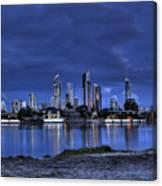 Surfers Paradise Skyline Twilight Canvas Print
