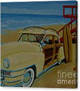Surfers Woody Canvas Print