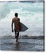 Surfing Brazil 3 Canvas Print