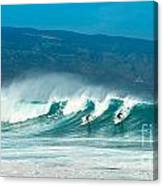 Surfing Duel Canvas Print