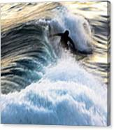Surfing For Gold Canvas Print