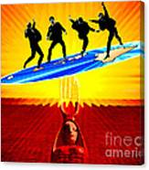 Surfing For Peace Canvas Print